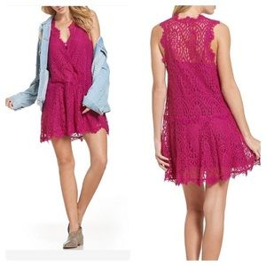 New Free People Heart In Two Lace Dress